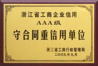 001集团续展省AAA级守合同重信用单位